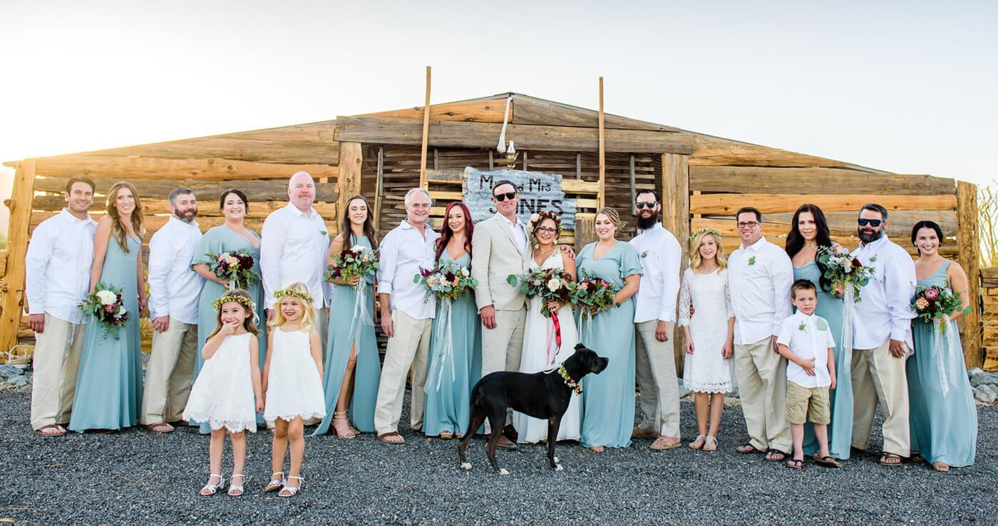 Überraschung von Braut an Bräutigam