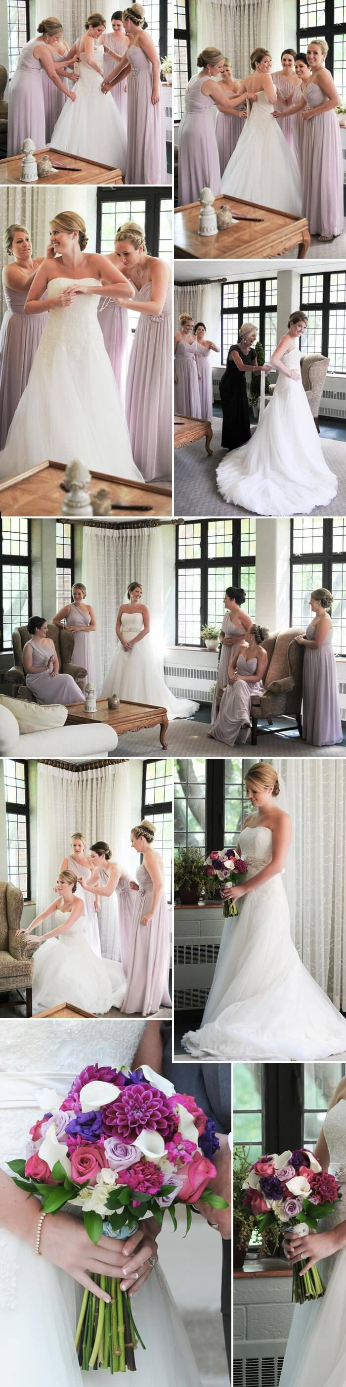 Braut mit Brautjungfern