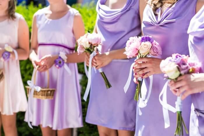 Kleider flieder Brautjungfern