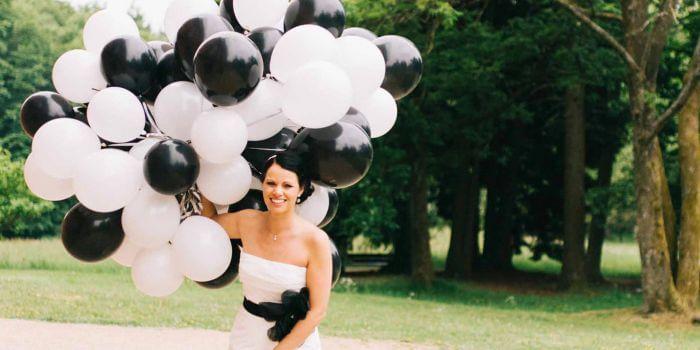 Von Der Deko Bis Zum Brautkleid Hochzeit In Schwarz Weiss
