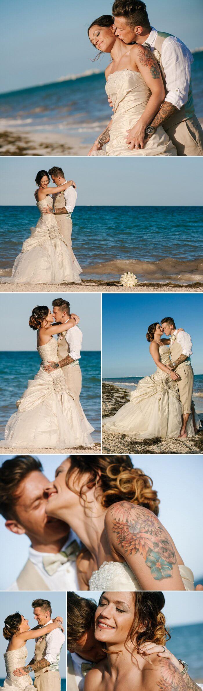 Im Brautkleid mit Tattoo: So schön sind tätowierte Bräute