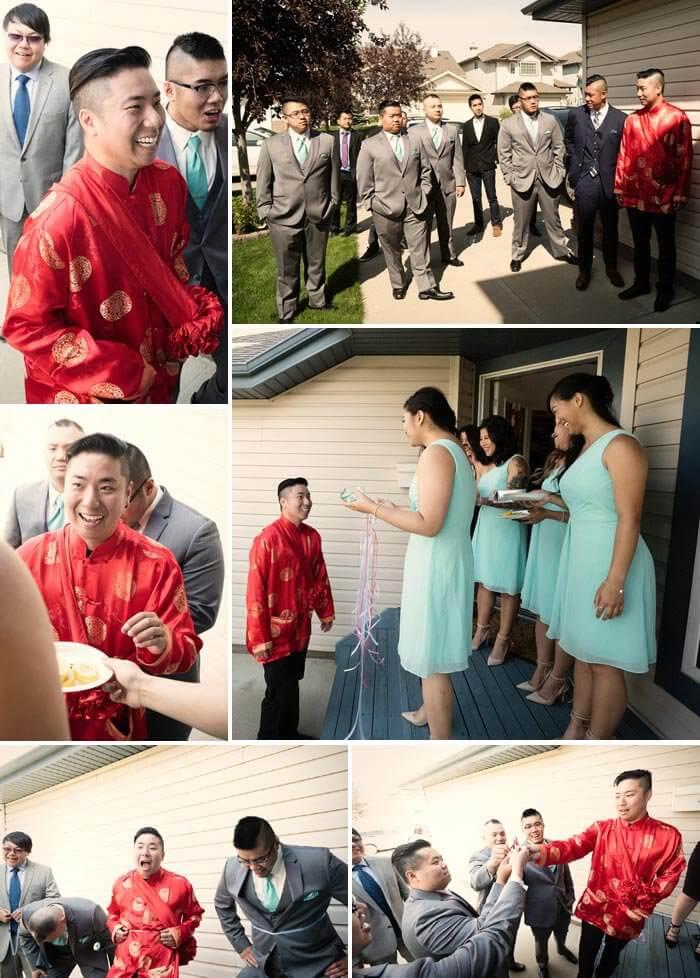Chinesische Hochzeit Bräutigam