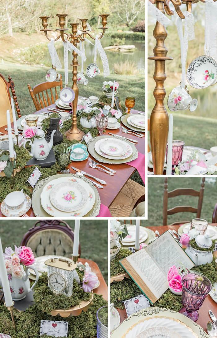 Alice im Wunderland Tischdeko