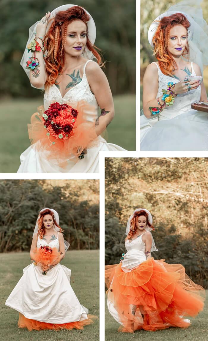 Braut in Orange