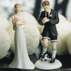 Tortenfigur Hochzeit Fußball