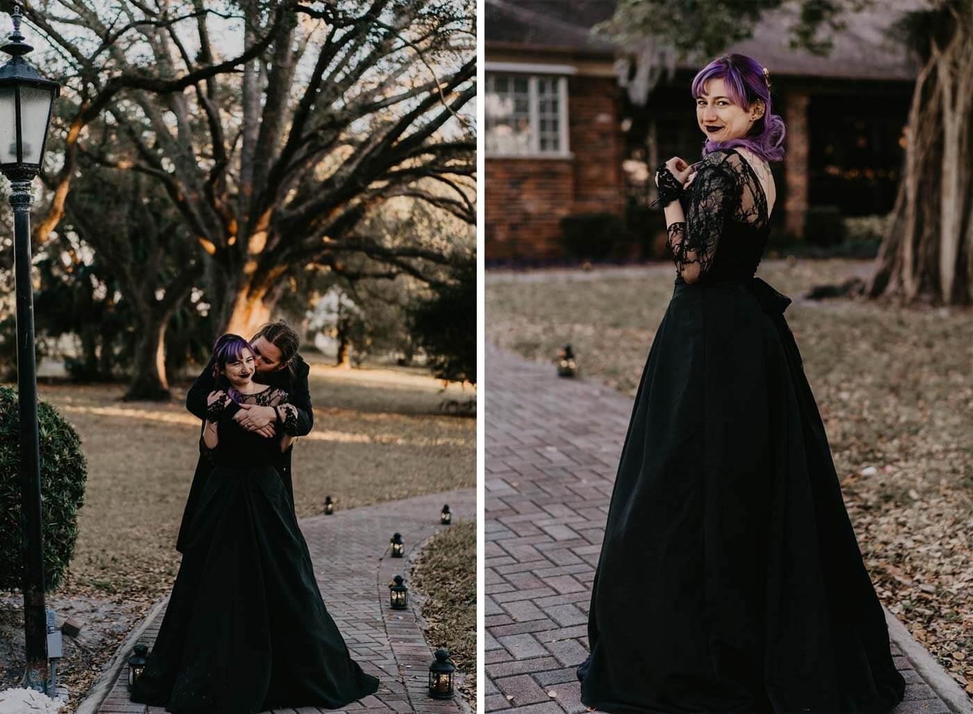 Brautkleid Schwarz Gothic