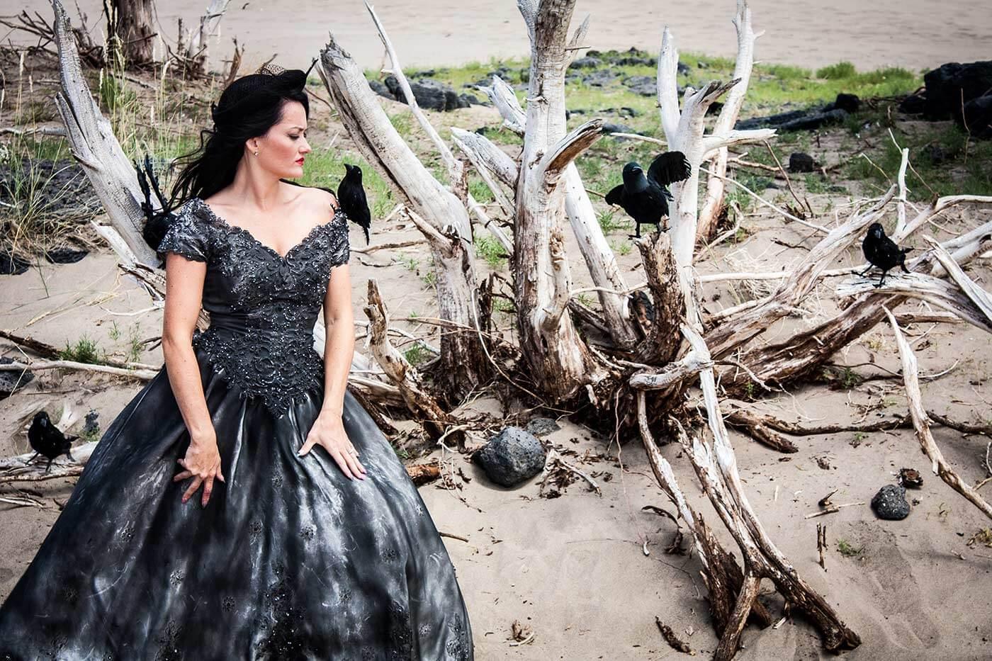 Brautkleid Gothic Hochzeit