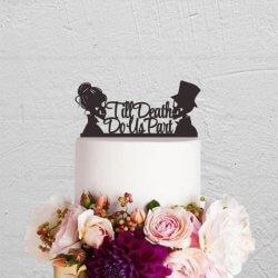 Brautpaar Halloween Hochzeitstorte