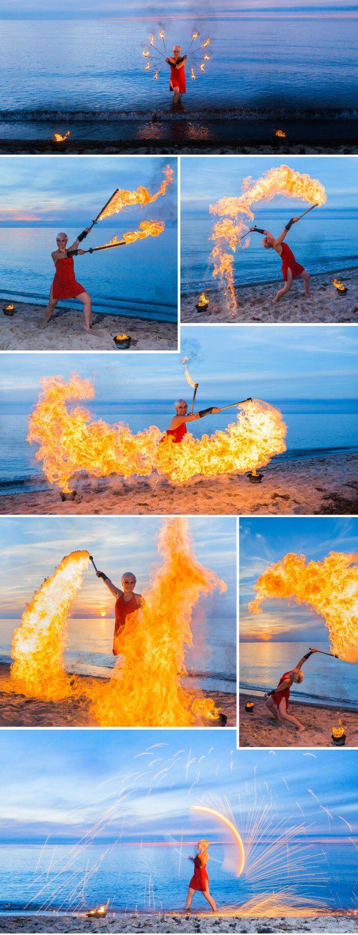Feuershow Strandhochzeit