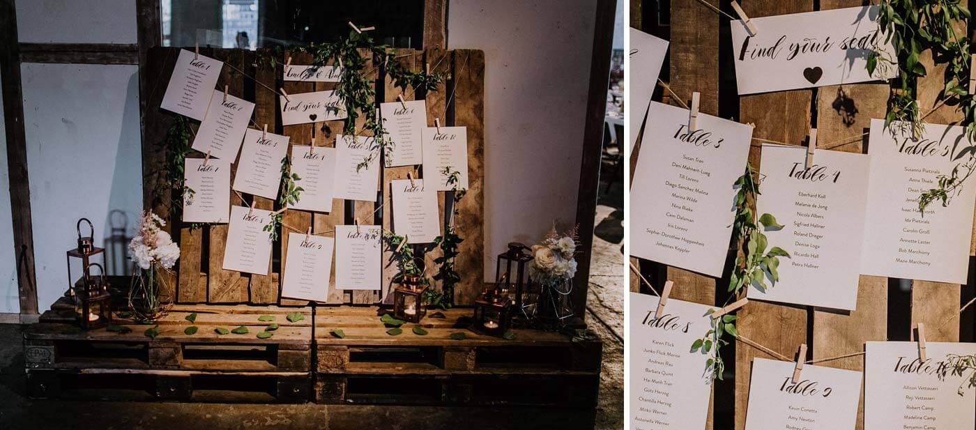 Hochzeit Tischordnung