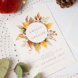 Einladung Hochzeit Herbst