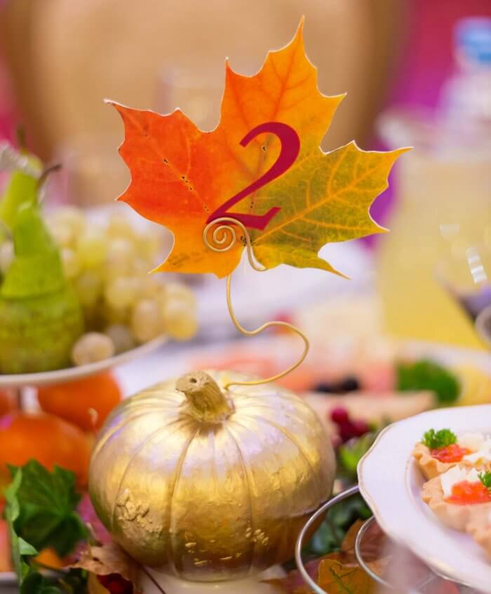 Tischdeko Herbsthochzeit