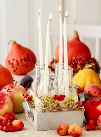 Tischdeko Hochzeit Vintage Herbst