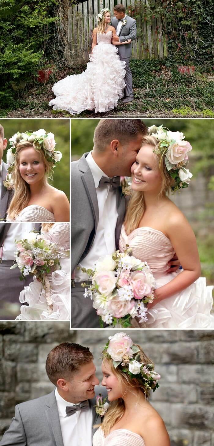 Hippie Hochzeit Blumenkranz