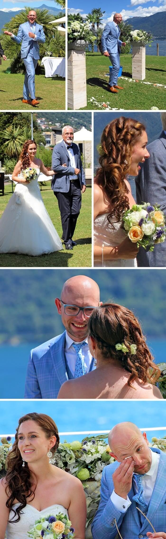 Hochzeit am See in der Schweiz
