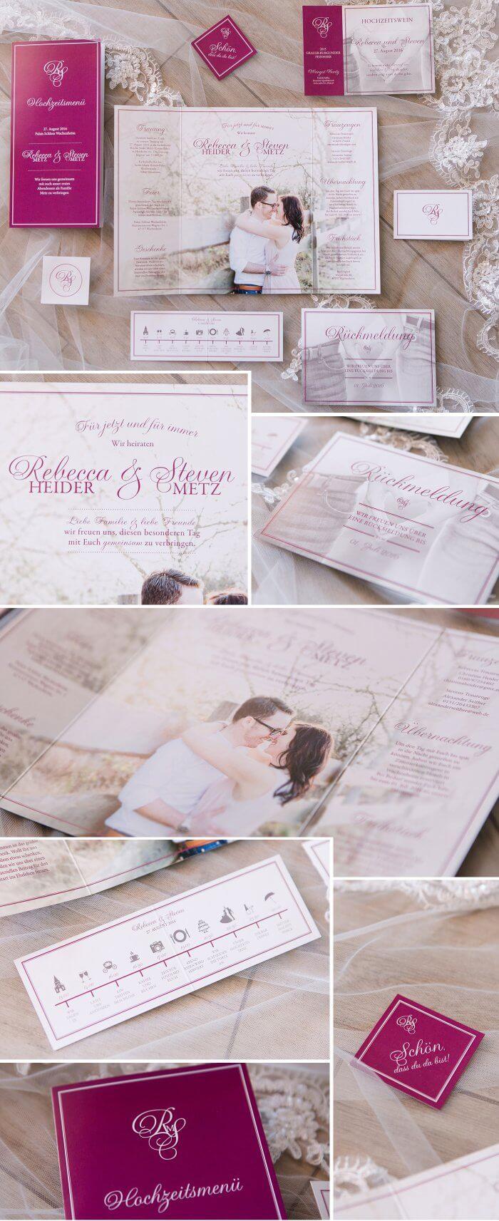 Einladungskarten Hochzeit Beere