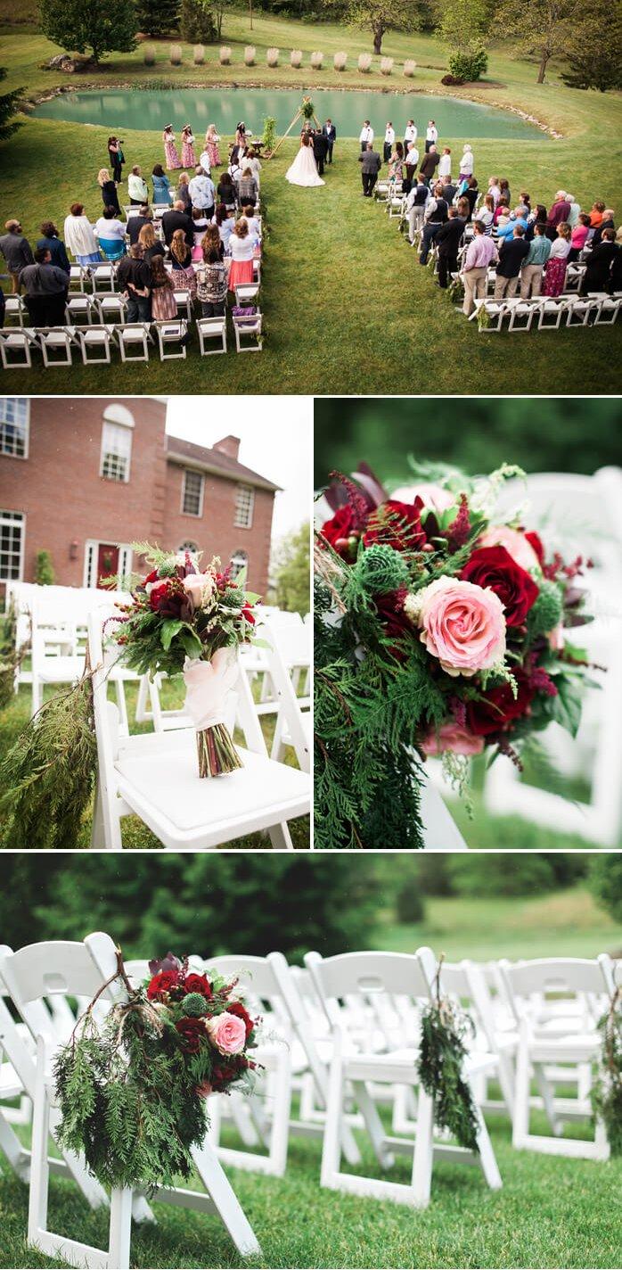 Hochzeitsdeko Bordeaux
