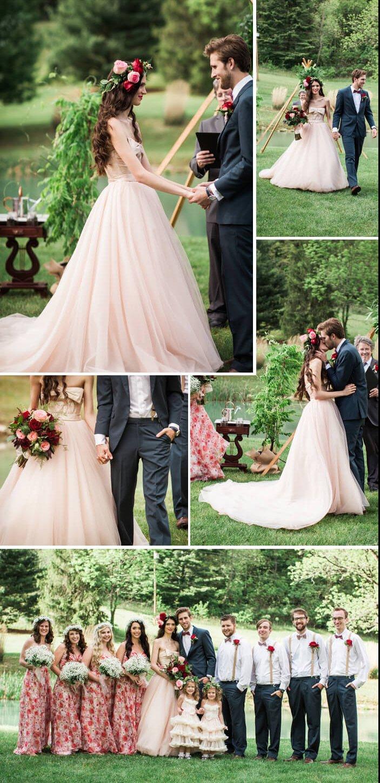 Hochzeitsdeko Weinrot