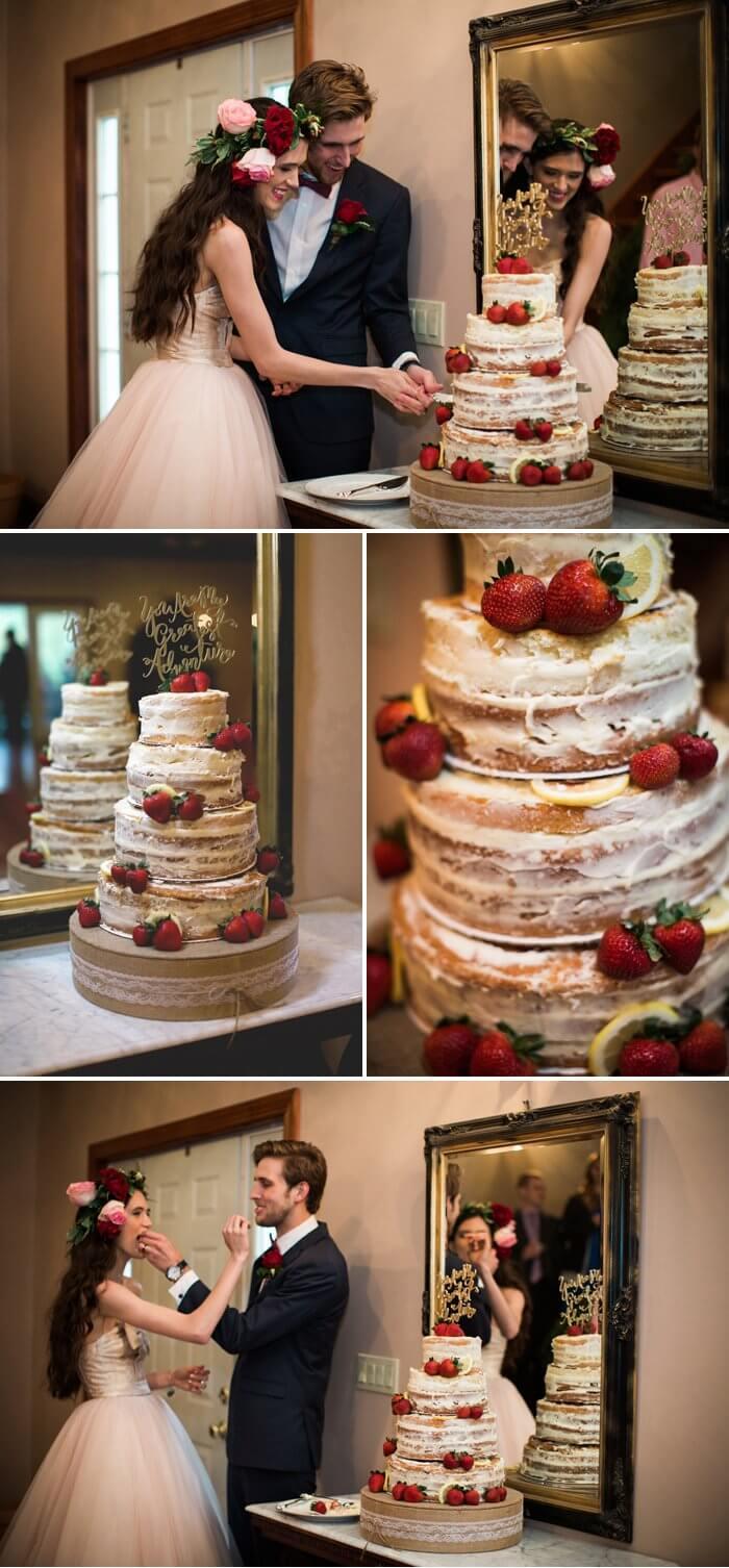 Hochzeitstorte Erdbeeren