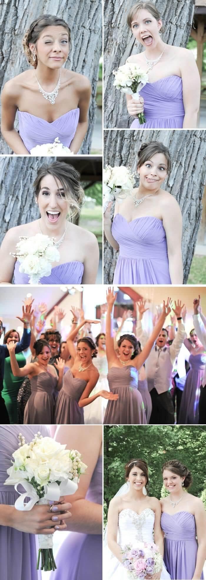 Brautjungfernkleider Flieder