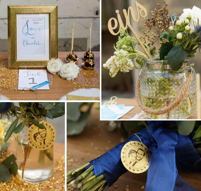 Gold Hochzeitsfarbe