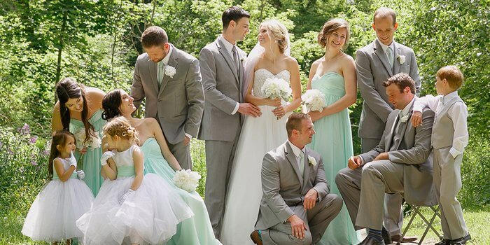 Hochzeit Mintgrün