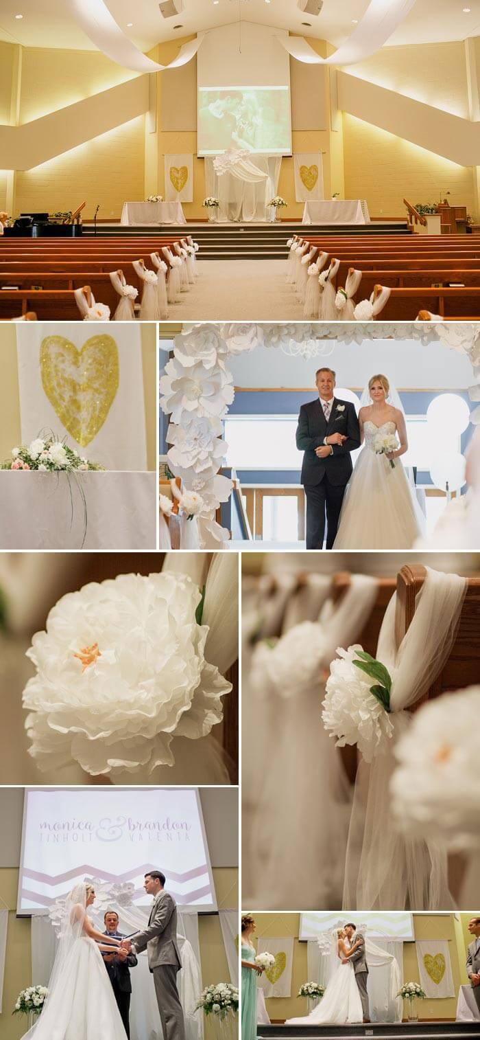 Glitzer Hochzeit In Gold Mint Weiss Inspirationen