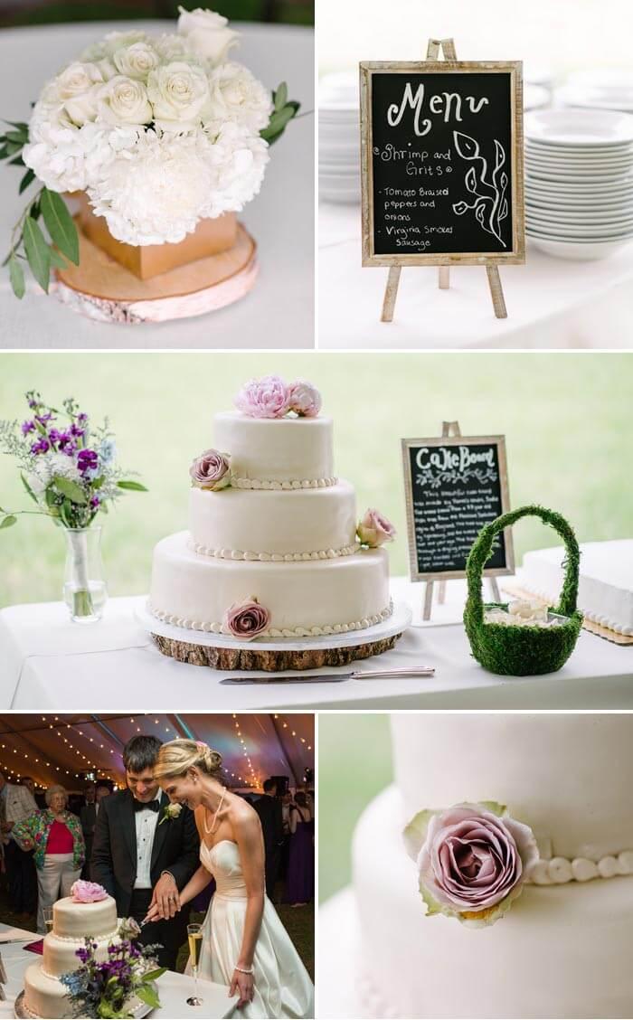Hochzeit in Lila: Die Torte