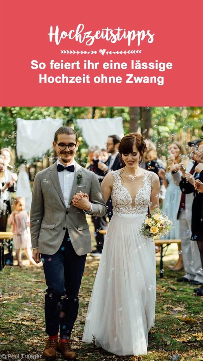 Entspannte Hochzeit