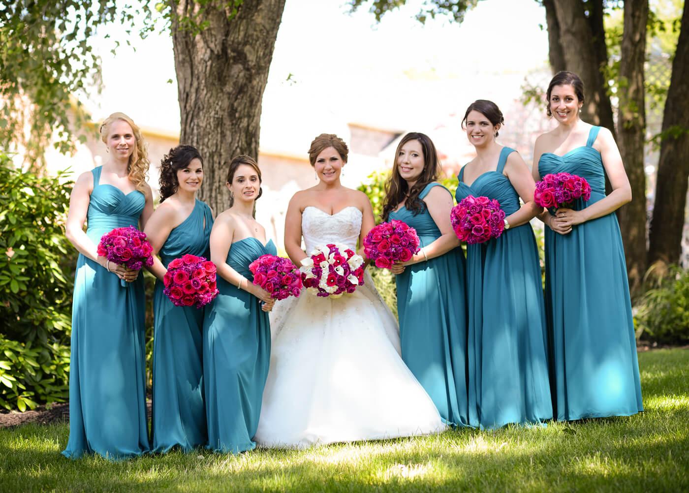 Brautjungfernkleider Blau