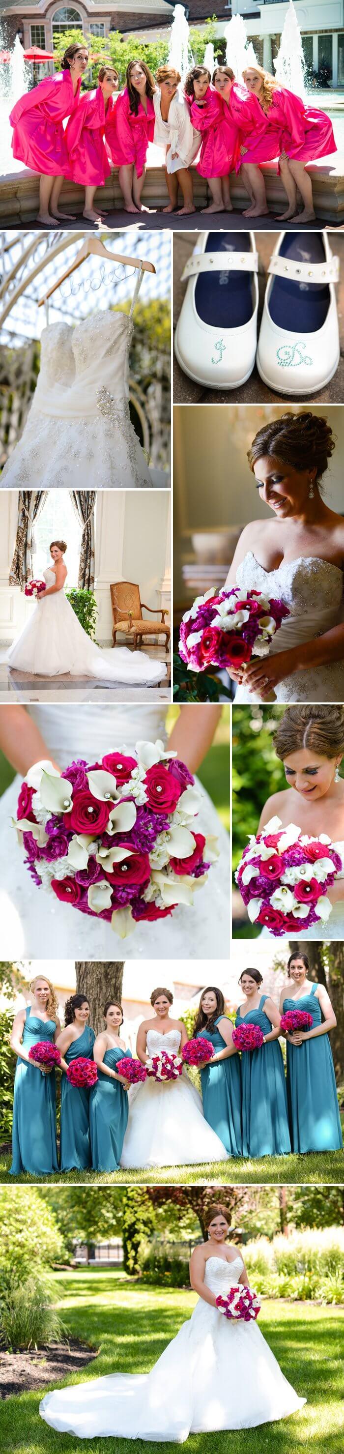 Hochzeit Pink Blau