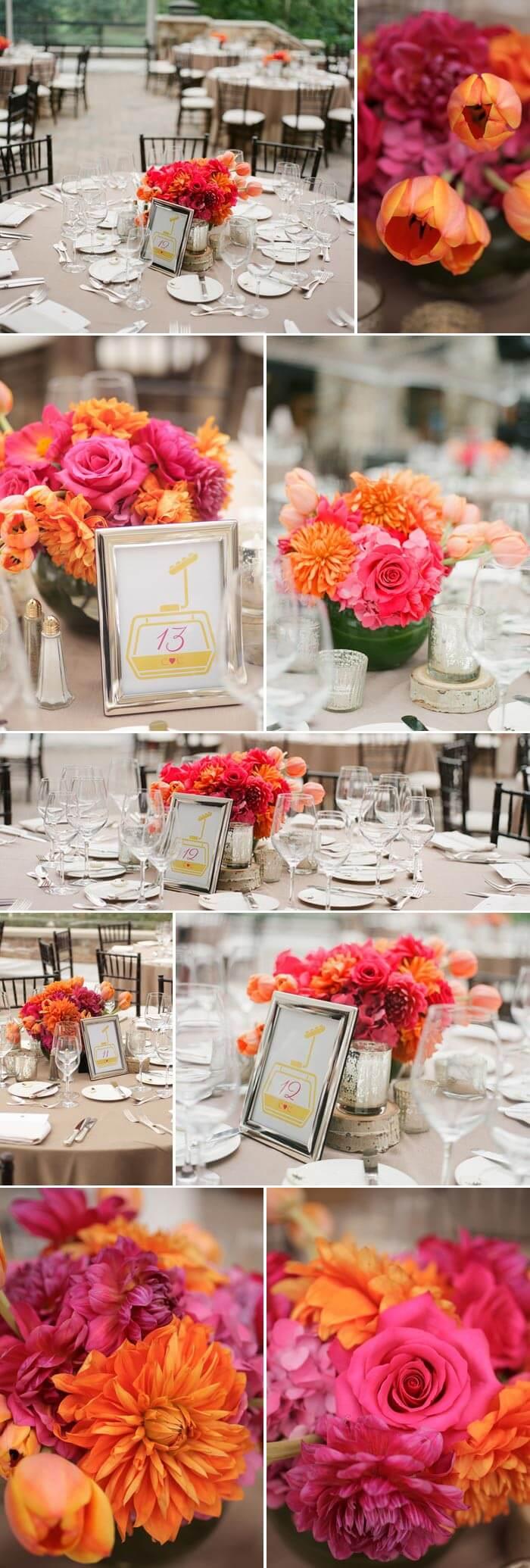 Hochzeit Pink & Orange
