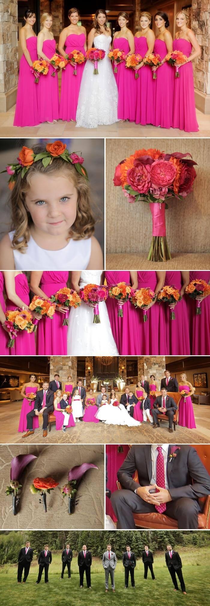 Hochzeit in Pink