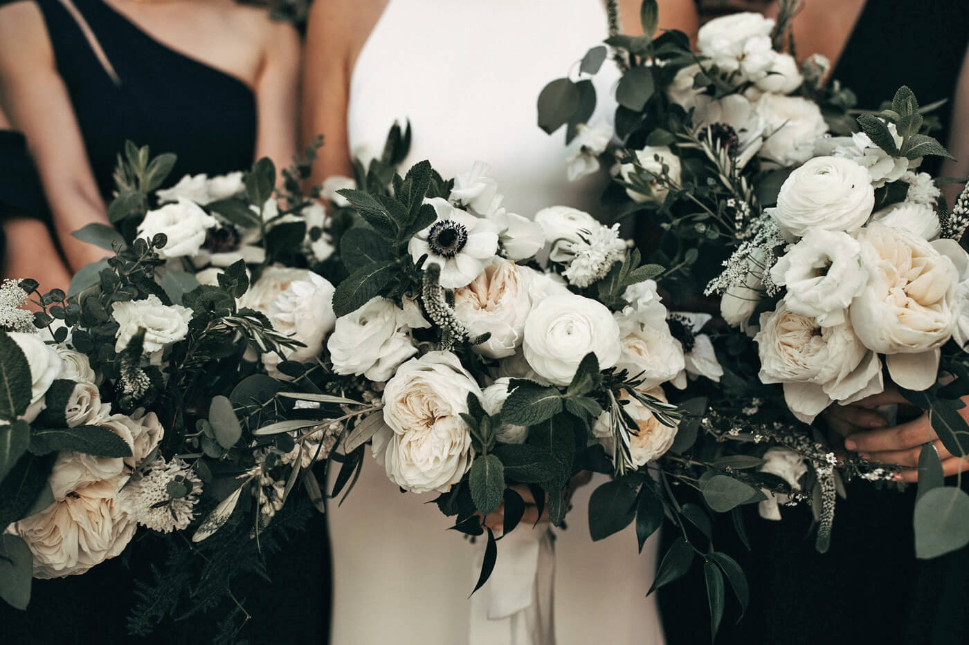 Brautstrauß Weiß Schwarz