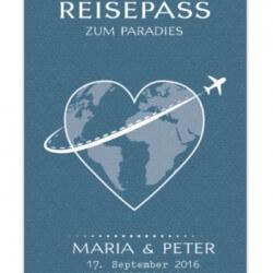 Hochzeitseinladung Pass