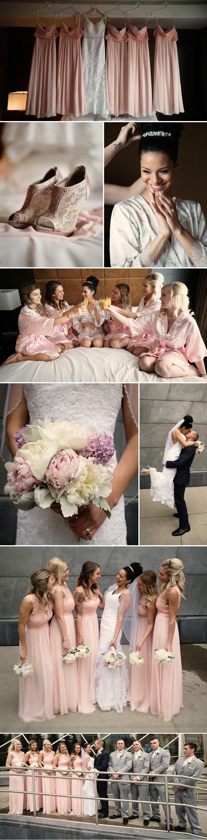 Brautkleid rosa gold