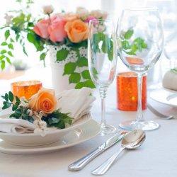 Tischdeko Apricot