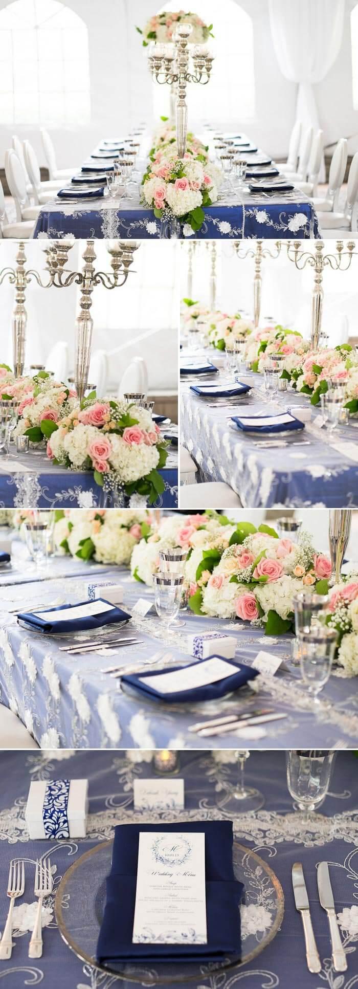 Hochzeitsdeko Blau Weiss Inspirationen Zu Den Eleganten