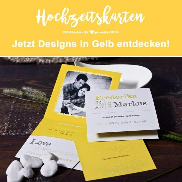 Hochzeitskarten in Gelb