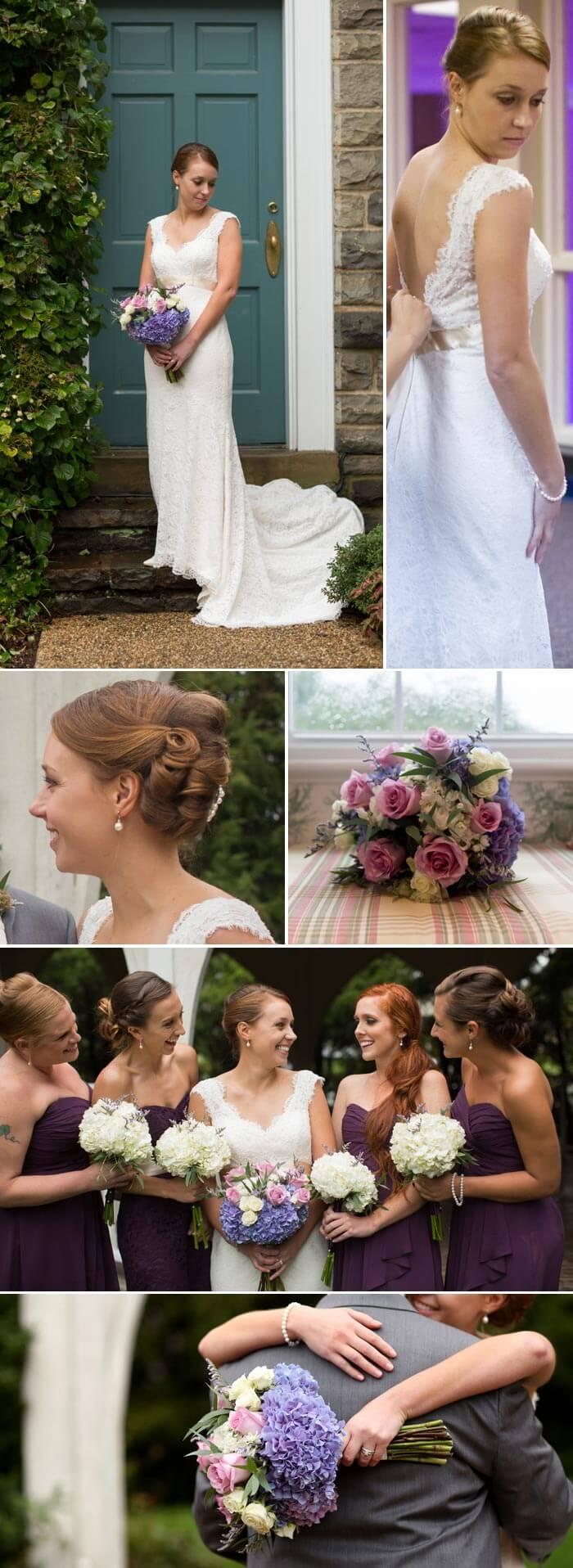 Brautkleid mit Band