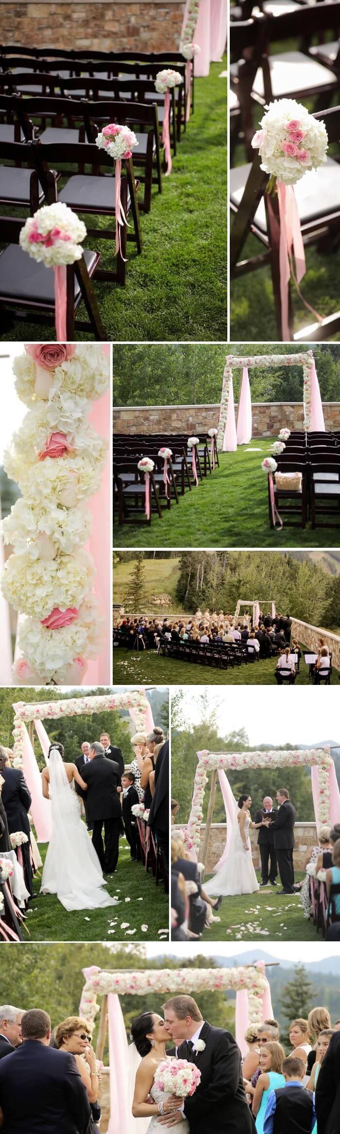 Hochzeit in Rosa