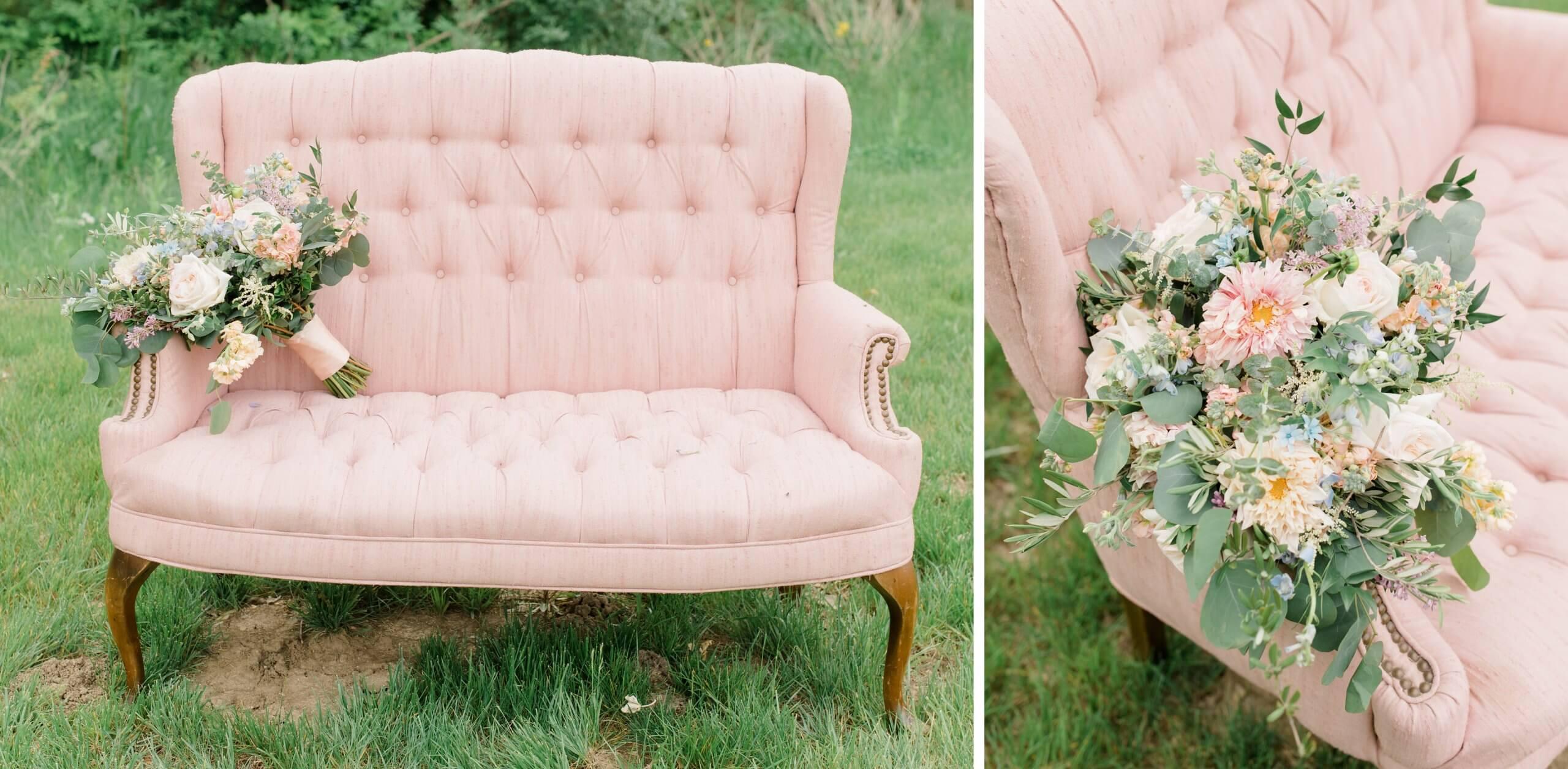 Hochzeitsdeko Vintage Rosa