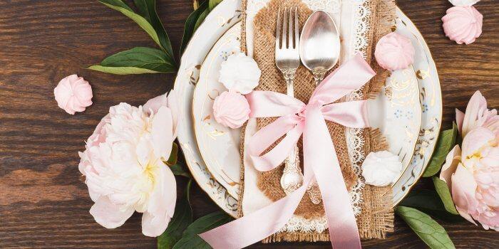 Tischdeko Hochzeit Rosa Vintage