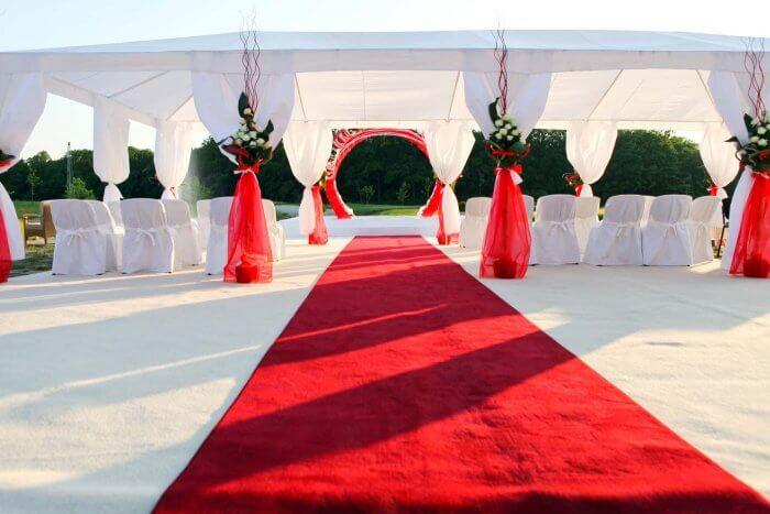 Hochzeit Rot Weiß