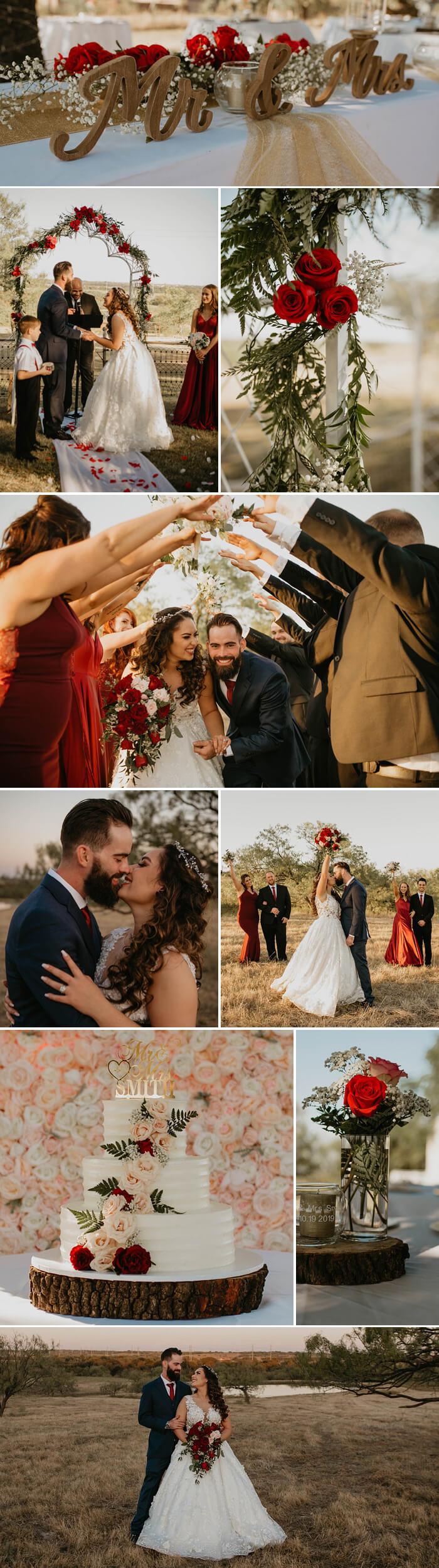 Rote Hochzeitsdeko