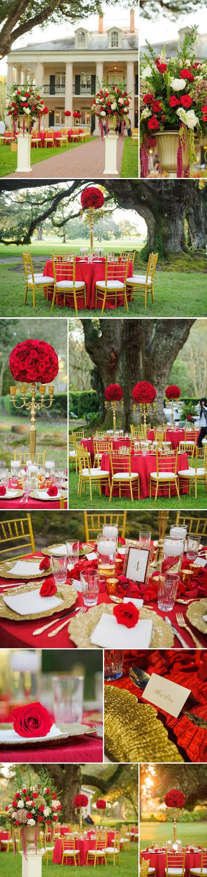 Tischdeko Rot Hochzeit