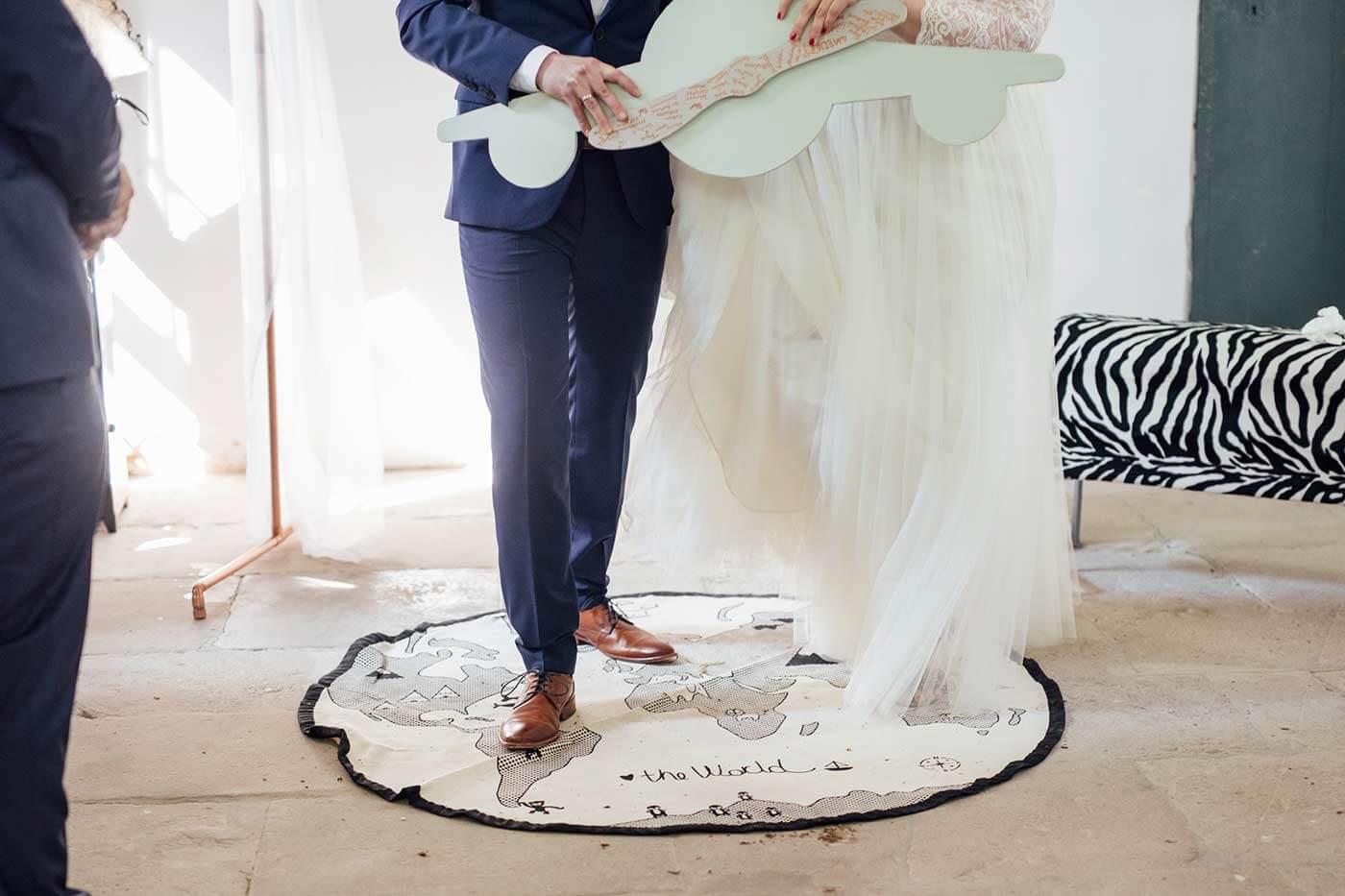 Hochzeitsmotto Weltreise