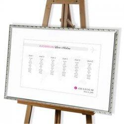 Sitzplan Hochzeit Weltkarte