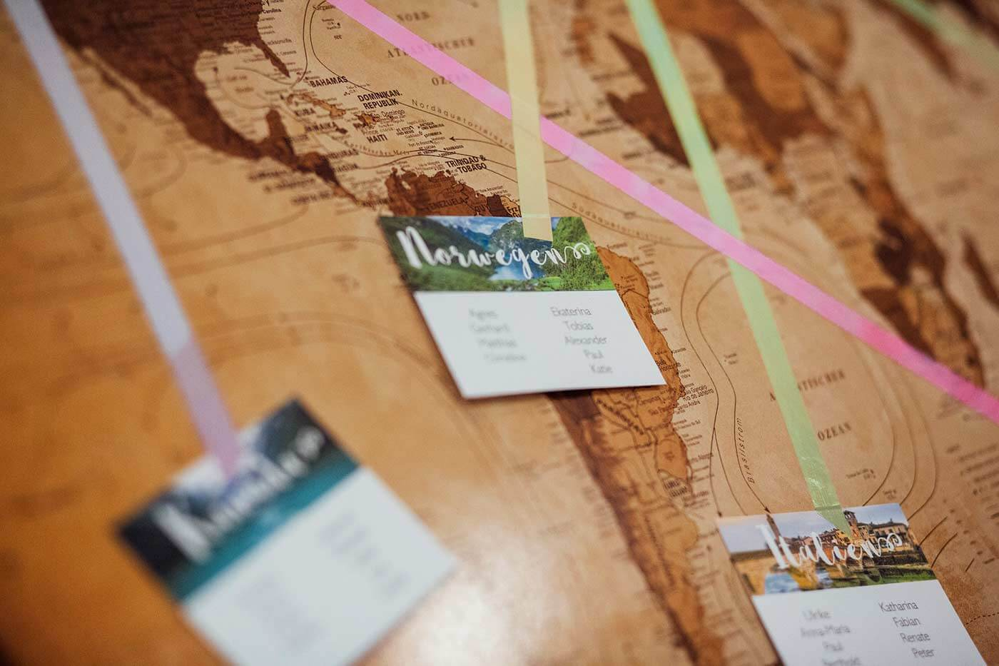 Sitzplan Weltkarte Hochzeit