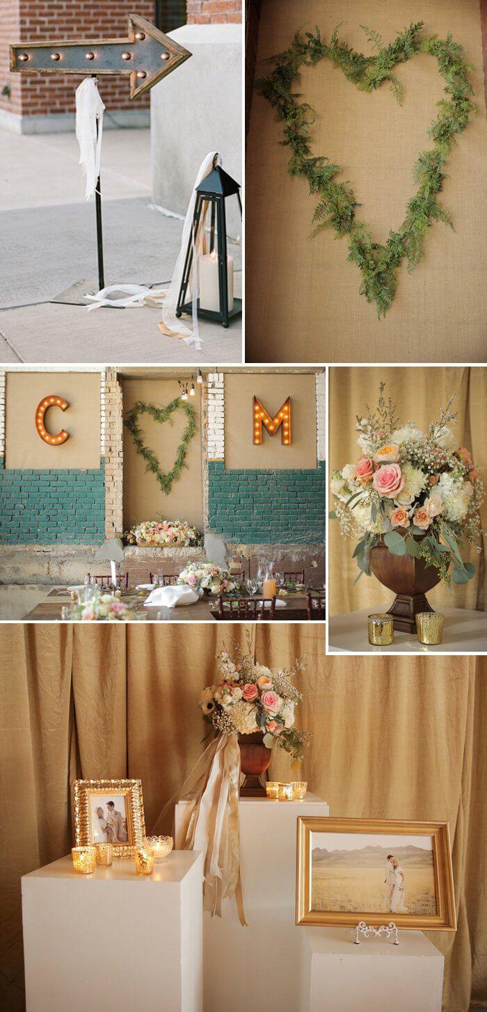 Hochzeitsdeko Landhaus